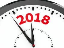 El reloj marca 2018 Fotos de archivo