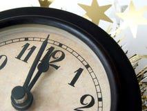 El reloj pulso medianoche Imágenes de archivo libres de regalías