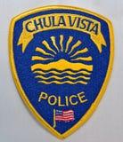 El remiendo de hombro del Departamento de Policía de Chula Vista en California imagen de archivo libre de regalías