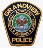 El remiendo de hombro del Departamento de Policía de Grandview en Missouri imagenes de archivo