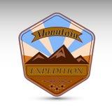 El remiendo de la expedición de la montaña Imagenes de archivo