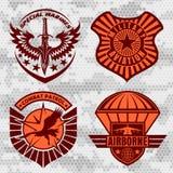 El remiendo militar de la fuerza aérea fijó - las insignias de las fuerzas armadas de arma y etiqueta el logotipo libre illustration