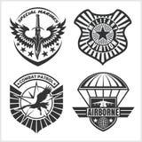 El remiendo militar de la fuerza aérea fijó - las insignias de las fuerzas armadas de arma y etiqueta el logotipo stock de ilustración