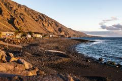 El Remo at sunset, La Palma, Canary Islands, Spain stock images