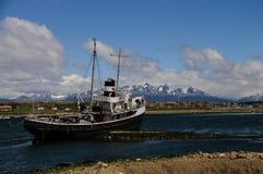 El Remolcador Christofer. The El remolcador Christofer is an old tug boat stranded near Ushuaia`s harbour Royalty Free Stock Photos