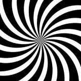 El remolino hipnótico alinea el fondo negro blanco abstracto del modelo del espiral del vector de la ilusión óptica Fotografía de archivo libre de regalías
