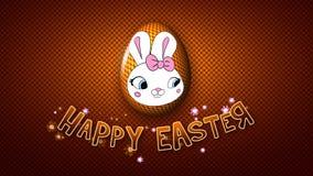 El remolque feliz 30 FPS del título de la animación de Pascua puntea de oro