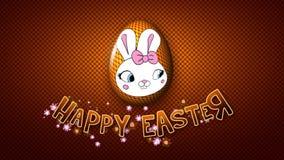 El remolque feliz 50 FPS del título de la animación de Pascua puntea de oro