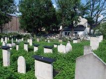 El Remuh - cementerio judío en Kraków, fotografía de archivo