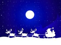 El reno de Navidad indica al padre Christmas And Celebration Imagenes de archivo