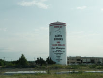 El Reno, Oklahoma Water Tower, Home of Garth Brooks and Yukon Millers Stock Images