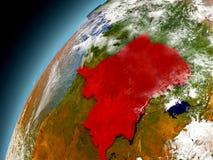 El República del Congo Democratic de la órbita de Earth modelo Foto de archivo