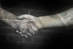 El reparto del dinero Imagen de archivo libre de regalías