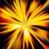 El resplandor solar anaranjado y amarillo emite el ejemplo Foto de archivo libre de regalías