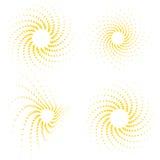 El resplandor solar vector-fijó Fotografía de archivo libre de regalías
