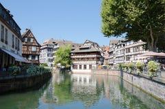 El restaurante del DES Tanneurs de Maison, Petite France, Estrasburgo Imagen de archivo libre de regalías