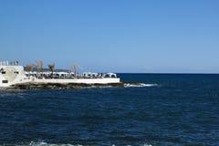 El restaurante en el mar Fotografía de archivo libre de regalías