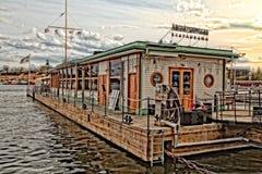 El restaurante floting Fotografía de archivo
