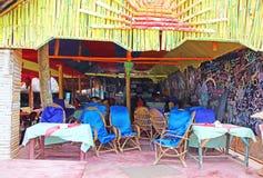 El restaurante por la mañana La India Imagenes de archivo