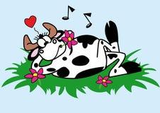 El resto de una vaca atractiva Foto de archivo libre de regalías