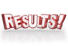 El resultado de la realización de la palabra de los resultados 3D alcanza meta Foto de archivo libre de regalías
