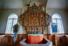 El retablo en la capilla de Amsberg imagen de archivo libre de regalías