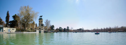 El Retiro - panorama Royalty Free Stock Image