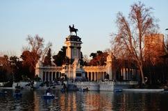 El-retiroen Madrid Royaltyfria Bilder