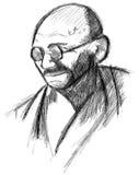 El retrato artístico de Mahatma Gandhi aisló libre illustration