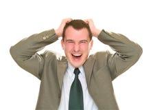 El retrato de jóvenes felices biznesmen Imagen de archivo