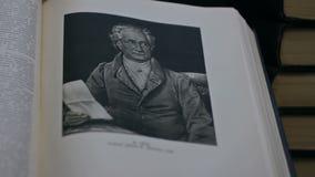 El retrato de Johann Goethe es gran escritor alemán metrajes
