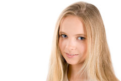 El retrato de la muchacha Imágenes de archivo libres de regalías
