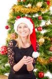 El retrato de la sonrisa de la mujer Foto de archivo libre de regalías