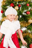 El retrato de la sonrisa de la niña Fotos de archivo libres de regalías
