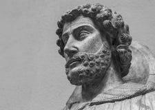 El retrato de mármol antiguo del hombre con la barba Imagen de archivo libre de regalías