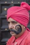 El retrato de militares participa en las actividades del ensayo para el desfile próximo del día de la república de la India Nueva Imagenes de archivo