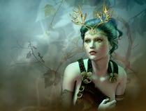 El retrato de oro de las astas, 3d CG libre illustration