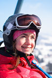 El retrato del esquiador Fotografía de archivo libre de regalías