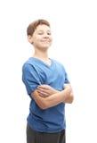 El retrato del muchacho joven orgulloso Foto de archivo
