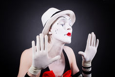 El retrato del theatrical imita Imagen de archivo libre de regalías