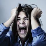 El retrato psicol?gico de la mujer depresiva triste siente p emocional imagenes de archivo