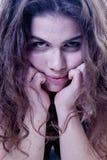 El retrato psicol?gico de la mujer depresiva triste siente p emocional foto de archivo libre de regalías
