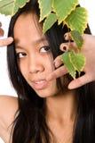 El retrato vietnamita joven de la muchacha Imágenes de archivo libres de regalías