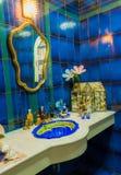 El retrete de lujo, adorna en estilo marino Foto de archivo libre de regalías