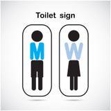 El retrete del hombre y de la mujer firma, símbolo del lavabo Imagenes de archivo