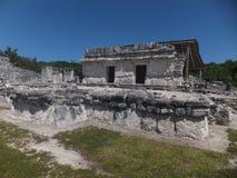 El Rey废墟在墨西哥 库存图片