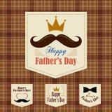 El rey de bigotes, special del día del ` s del padre ilustración del vector
