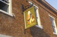 El rey George Pub en Charleston histórica, SC Imagen de archivo libre de regalías