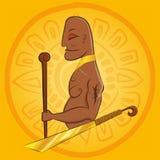 El rey principal grande del maya ilustración del vector