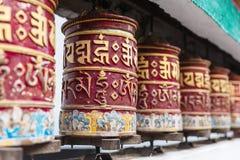 El rezo tibetano rueda adentro el área del monasterio de Rumtek cerca de Gangtok Sikkim, la India imagen de archivo libre de regalías